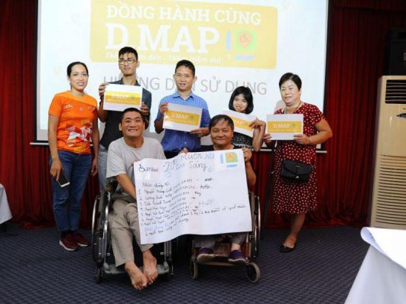 Thanh niên khuyết tật thành phố Hà Nội đồng hành cùng D.map