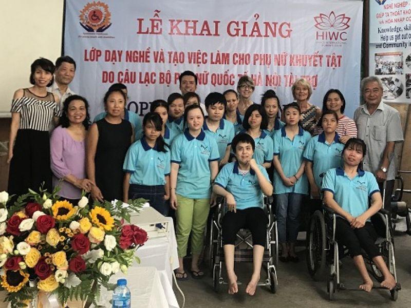Trung tâm Vì Ngày Mai: Khai giảng lớp dạy nghề và tạo việc làm cho phụ nữ khuyết tật