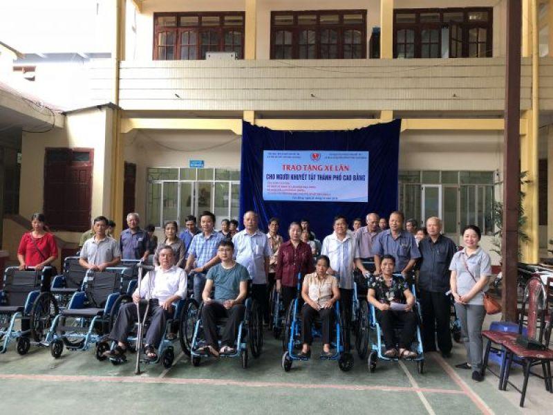 Trung ương Hội: Trao 260 xe lăn Gen 2, Gen 3 cho người khuyết tật tỉnh Cao Bằng