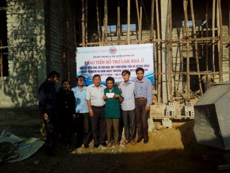 Huyện Hội Quỳnh Lưu, Nghệ An: Hỗ trợ làm nhà cho gia đình người khuyết tật