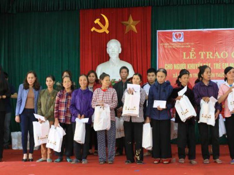 Trung ương Hội: 100 suất quà trao tặng người khuyết tật, trẻ mồ côi nghèo Hà Nội