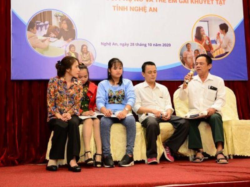 Lễ tổng kết Dự án Tăng cường năng lực ứng phó bạo lực trên cơ sở giới đối với phụ nữ và trẻ em gái khuyết tật tỉnh Nghệ An