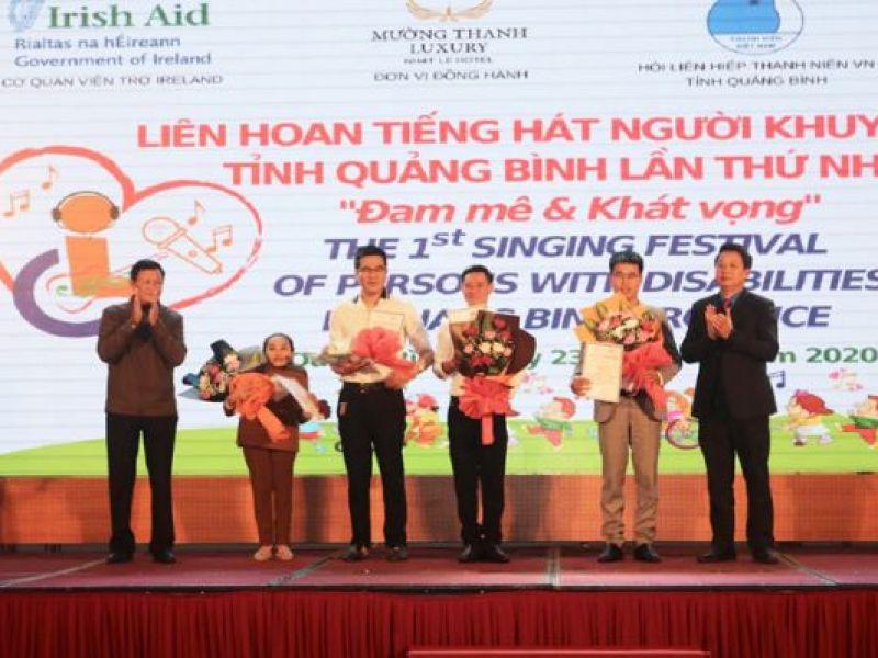 Quảng Bình: Liên hoan tiếng hát người khuyết tật lần thứ nhất 2020