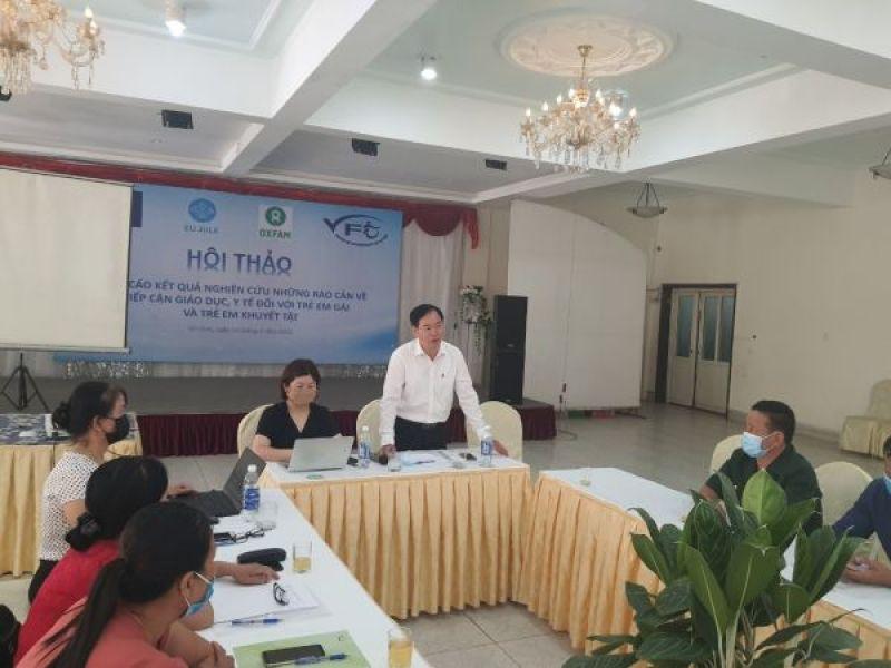 Báo cáo kết quả nghiên cứu những rào cản về tiếp cận giáo dục, y tế đối với trẻ em gái và trẻ em khuyết tật tại Nghệ An