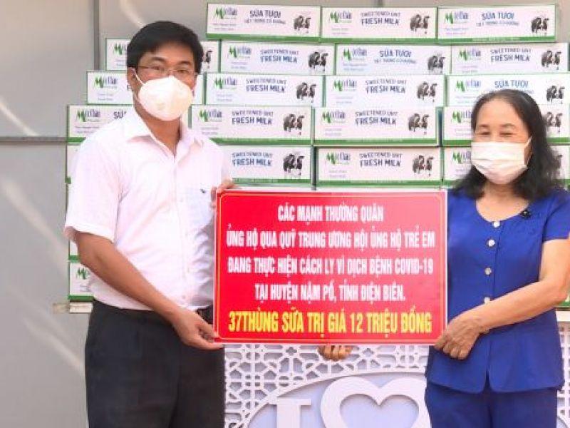 Trung ương Hội: Tặng quà cho trẻ em có hoàn cảnh đặc biệt đang thực hiện cách ly vì dịch bệnh Covid 19 tỉnh Điện Biên