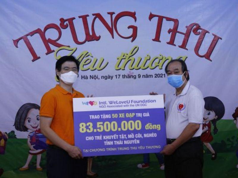 Tiếp nhận ủng hộ 50 xe đạp cho trẻ em có hoàn cảnh đặc biệt tỉnh Thái Nguyên nhân dịp Trung Thu 2021