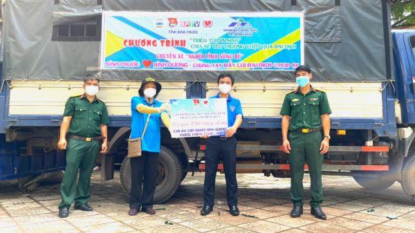 Bình Phước gửi 900 túi an sinh đến Bình Dương